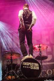 "Mathieu Jourdain ""Phil"", baterista de The Inspector Cluzo (Mundaka Festival, Mundaka, 2016)"