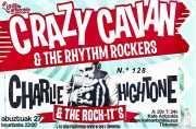 Entrada de Crazy Cavan & The Rhythm Rockers (Diseño: Ramoneart) (Kafe Antzokia, Bilbao, )