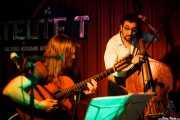 Sacri Delfino -guitarra- y Fernando Gilabert -contrabajo- de Malevaje (Satélite T, Bilbao, 2016)