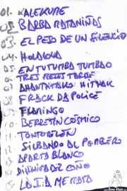 Setlist de Viva Bazooka (Kremlin Aretoa, Bilbao, 2016)