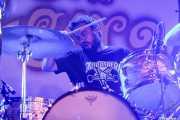 Andoni Ortiz, baterista de The Soulbreaker Company (Aste Nagusia - Algara Txosna, Bilbao, 2016)