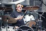 Potxeta Ardanza, baterista de Lendakaris Muertos (Gasteiz Calling, Vitoria-Gasteiz, 2016)