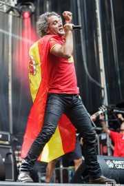 Aitor Ibarretxe, cantante de Lendakaris Muertos (Gasteiz Calling, Vitoria-Gasteiz, 2016)