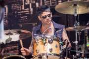"Tommy Akerholdt ""Tommy Manboy"", baterista de Turbonegro (Gasteiz Calling, Vitoria-Gasteiz, 2016)"