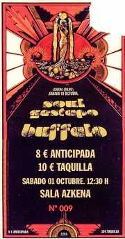 Entrada de Buffalo y Soul Gestapo (Diseño: Aitor Ochoa) (Sala Azkena, Bilbao, )