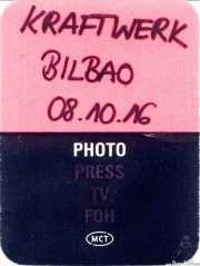 PhotoPass de Kraftwerk (Museo Guggenheim, Bilbao, )