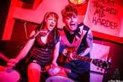 Erica Toraldo -batería y voz- y Gianni Vessella -guitarra y voz- de The Devils (Shake!, Bilbao, 2016)