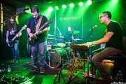 James Fedigan -bajo-, J.B. Brisendine -voz y guitarra-, Allan Carson -batería- y Nick Johns -teclado- de Brother Hawk (Kafe Antzokia, Bilbao, 2016)