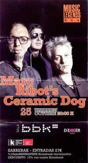 Cartel de Marc Ribot's Ceramic Dog (Sala BBK, Bilbao, )