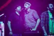 Marcos García, Angel Villameriel y Aníbal López de Cantantes coristas de Nacho Vegas (Coro Al altu la lleva) (BIME festival, Barakaldo, 2016)