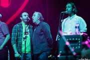 Aníbal López, Xuacu Carballido y Alberto Sastre de Cantantes coristas de Nacho Vegas (Coro Al altu la lleva) (BIME festival, Barakaldo, 2016)