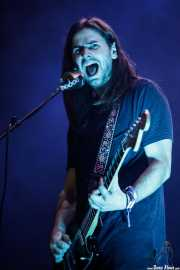 Josu Billelabeitia, guitarrista, teclista y cantante de Belako (BIME festival, Barakaldo, 2016)