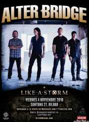 Cartel de Alter Bridge (Santana 27, Bilbao, )