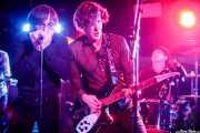 Toño Pinchos -armónica-, Jota Montero -voz y guitarra- y Sam Malakiam -batería y voz- de Los Platillos Volantes (Santana 27, Bilbao, 2016)
