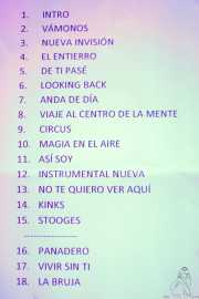 Setlist de Los Platillos Volantes (Santana 27, Bilbao, 2016)