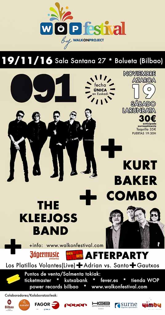 Cartel de WOP Festival 2016 (Santana 27, Bilbao, )