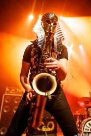 Tupeloko, saxofonista y armonicista de Screamers & Sinners (Kafe Antzokia, Bilbao, 2016)