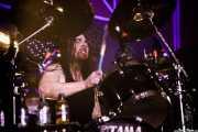 Ryan O'Keeffe, baterista de Airbourne (Santana 27, Bilbao, 2016)