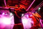 Arjan Spies -voz y guitarra- y Mark Wesseloo -bajo y voz- de Mark & The Spies (Purple Weekend Festival, León, 2016)