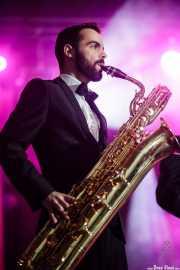 Joel Rocha, saxofonista de Gizzelle & TT Syndicate (Purple Weekend Festival, León, 2016)