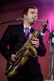 Hugo Lopes, saxofonista de Gizzelle & TT Syndicate (Purple Weekend Festival, León, 2016)
