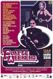 Cartel del Purple Weekend 2016 por Roberto Argüelles (Purple Weekend Festival, León, )