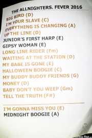 Setlist de The Allnighters (Santana 27, Bilbao, 2016)