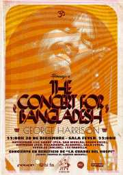 Cartel del Homenaje a The Concert for Bangladesh. George Harrison (Santana 27, Bilbao, )