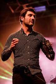 "Ricardo Ibáñez ""Ricky"", panderetista en el Homenaje a The Concert for Bangladesh. George Harrison (Santana 27, Bilbao, 2016)"