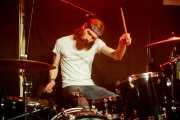 Shane Maxymus, baterista de Ulysses (Kafe Antzokia, Bilbao, 2017)