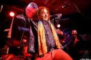 Enrique Parra -batería-, Crazy Tomes -guitarra y voz-, Martín García Duque -saxofón- y Josué García -trompeta- de Swamp Dogg (Kafe Antzokia, Bilbao, 2017)