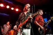 Ken Fox -bajo y voz-, Bill Milhizer -batería- y Keith Streng -guitarra y voz- de The Fleshtones (Kafe Antzokia, Bilbao, 2017)