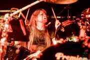 Sara Leigh Shaw, baterista de The Pearl Harts (Zentral, Iruña / Pamplona, 2017)