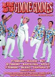 Cartel de Me First and The Gimme Gimmes (Santana 27, Bilbao, 2017)