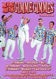 Cartel de Me First and The Gimme Gimmes (Santana 27, Bilbao, 2017)