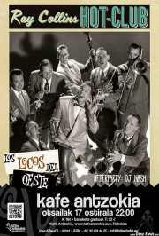 Cartel de Ray Collins' Hot Club y Los locos del oeste (Kafe Antzokia, Bilbao, )
