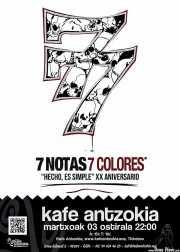 Cartel de 7 Notas 7 Colores (Kafe Antzokia, Bilbao, )