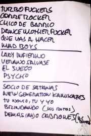 Setlist de Turbofuckers (Kafe Antzokia, Bilbao, 2017)