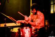 Carlos Jimena, baterista de Guadalupe Plata (Trinkete Antitxokoa, Gernika, 2017)