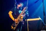 """Francesco Valtieri """"Franz"""", saxofonista y teclista en gira de Alejandro Escovedo (Kafe Antzokia, Bilbao, 2017)"""