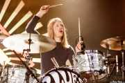 André Kvarnström, baterista de Blues Pills (Santana 27, Bilbao, 2017)