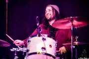 Dylan Golden Aycock, baterista de Levi Parham & Band (Kafe Antzokia, Bilbao, 2017)