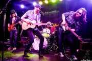 Jordan Hehl -bajo-, Levi Parham -voz y guitarra-, Dylan Golden Aycock -batería- y Paul Benjaman -guitarra- de Levi Parham & Band (Kafe Antzokia, Bilbao, 2017)