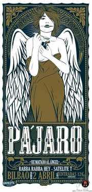 Cartel de Pájaro (Diseño de Alvaro P-ff de The Fly Factory) (Satélite T, Bilbao, )