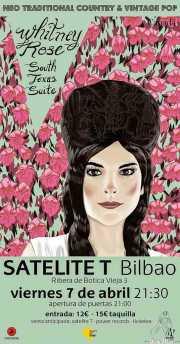 Cartel de Whitney Rose (Satélite T, Bilbao, )
