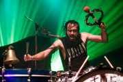 Philipp Mirtschink, baterista de The Picturebooks (Kafe Antzokia, Bilbao, 2017)