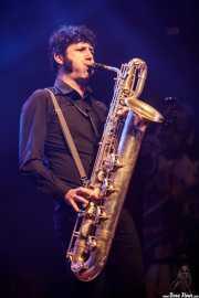 Daniel Niño, saxofonista de The Limboos (Kafe Antzokia, Bilbao, 2017)