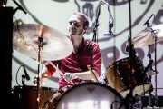 "Roberto Lozano ""Loza"", baterista de Sex Museum (Kafe Antzokia, Bilbao, 2017)"