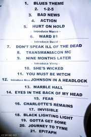 Setlist de The Fuzztones (Satélite T, Bilbao, 2017)