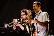 Julen Rodríguez -trompeta- y José Gallardo -saxofón- de Rubia (Music Legends Fest, Sondika, 2017)